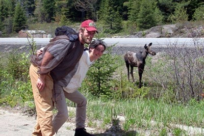 man with a moose