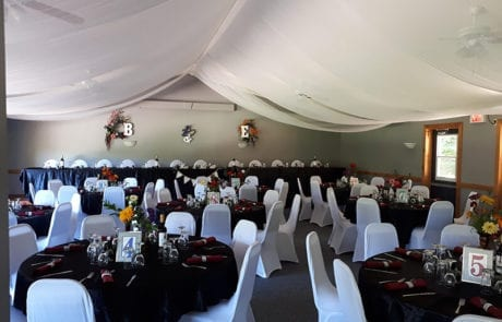 wedding reception setup