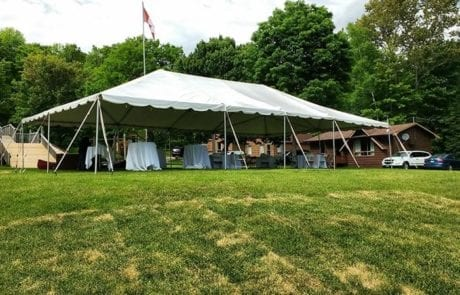 tented wedding reception setup