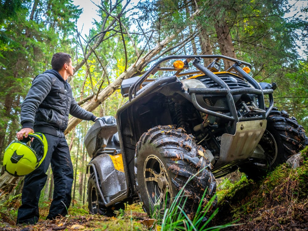 Photo of an ATVer on One of the Wildest Haliburton ATV Trails.